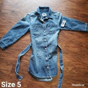 Girls denim Old Navy Dress Size 5